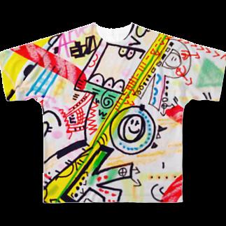 coppepan_brothersの人力火の輪車&東山のぐるんぐるん山車 Full graphic T-shirts