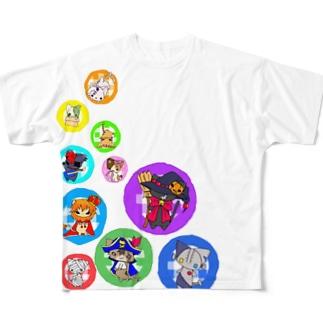 NekoKanCLUB Full graphic T-shirts