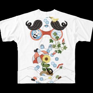 ねことりむし★CAT BIRD INSECTの恵みの鼻水 Full graphic T-shirts