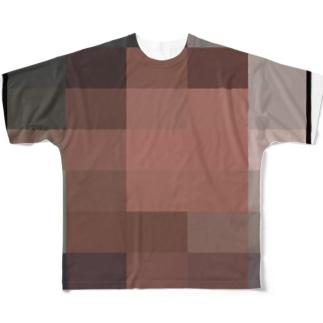 モザイクアート風 Full graphic T-shirts