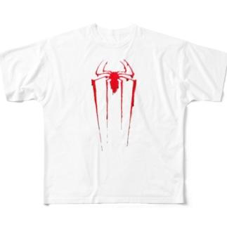 蜘蛛(液体) Full graphic T-shirts