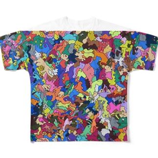 カベガミDJシェイシェイホー1 Full graphic T-shirts