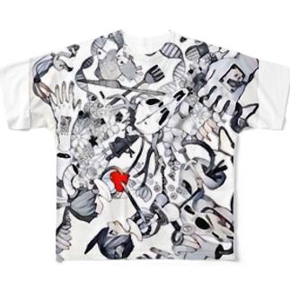 かわいい Full graphic T-shirts