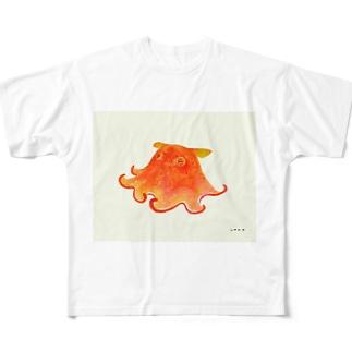 メンダコ Full graphic T-shirts