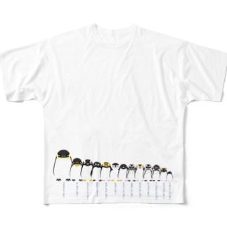 背の順ペンギン All-Over Print T-Shirt