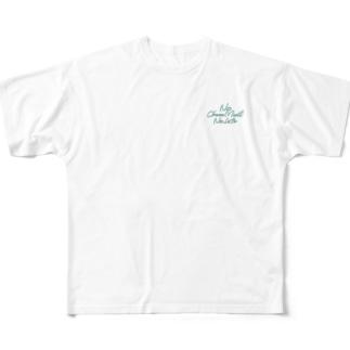 No Choco Mint No Life ワンポイント Full graphic T-shirts