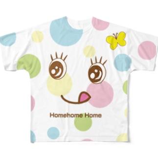 水玉模様は晴れた日に フルグラフィックTシャツ