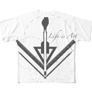 Life is Art Full graphic T-shirts