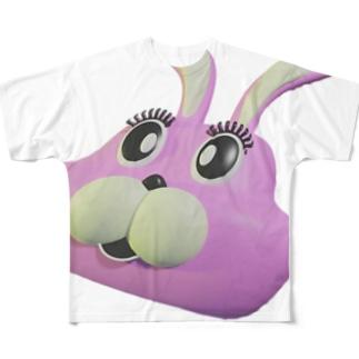 うさぎ(big) / 中川慎之介 Full graphic T-shirts