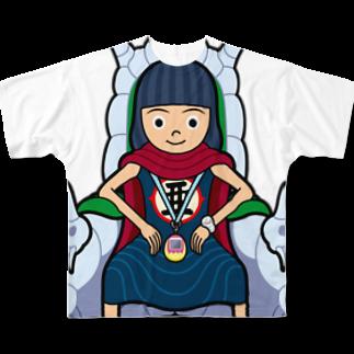 服部ともあきのあっちゃん大魔王 Full graphic T-shirts