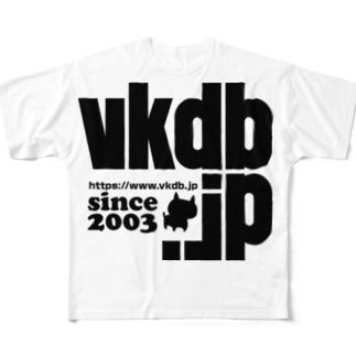 vkdb新ロゴ フルグラフィックTシャツ