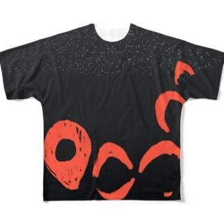 クロアゲハ【Always with Bugs・鱗翅パターン】 Full graphic T-shirts