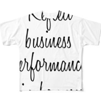 年2回のボーナスに業績を反映させる Full graphic T-shirts