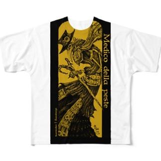 ペスト医師(黄色) Full graphic T-shirts