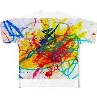 2歳の息子がクレヨンで描いた絵 Full graphic T-shirts