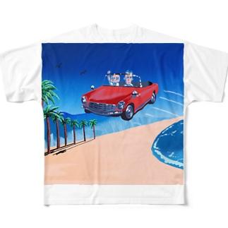 ビーチ Full Graphic T-Shirt