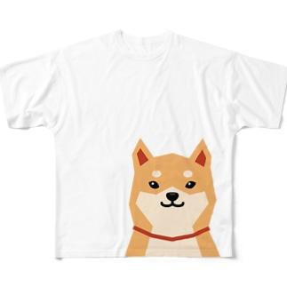 いつもいっしょ(赤柴) Full graphic T-shirts