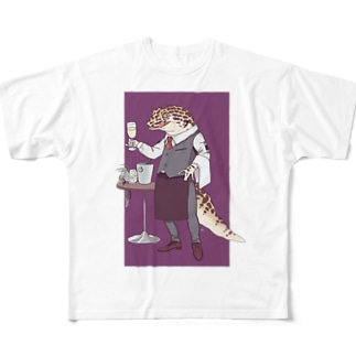 ヒョウモンソムリエモドキ Full graphic T-shirts