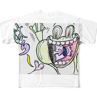 しょごガエル Full graphic T-shirts