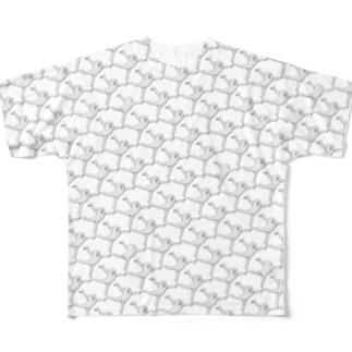 たらららモノクロおどり格子 Full Graphic T-Shirt