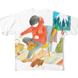 登山の前にTシャツ Full Graphic T-Shirt