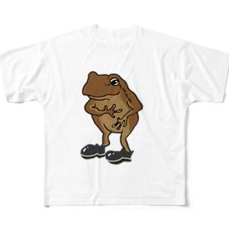 カエル(フォーマル) Full graphic T-shirts
