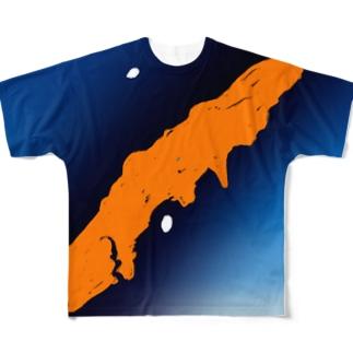 コノハチョウ【Always with Bugs・鱗翅パターン】 Full graphic T-shirts