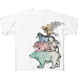 猛獣ブレーメン(color) フルグラフィックTシャツ