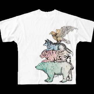 Acabane* Shopの猛獣ブレーメン(color)フルグラフィックTシャツ
