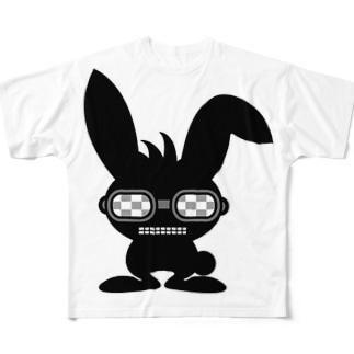 ブラックラビット フルグラフィックTシャツ