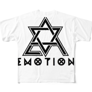 EmotioN Hexagram LOGO Full graphic T-shirts