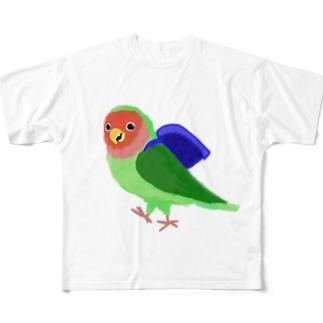 コザクラインコ朝 Full graphic T-shirts