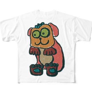 お茶の間わん吾郎 Full graphic T-shirts