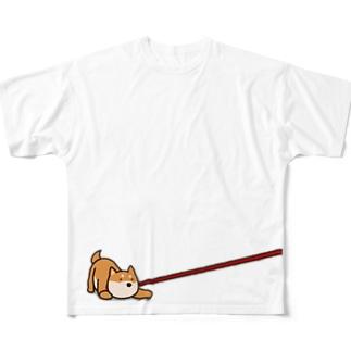 ぐぐぐ柴犬 Full graphic T-shirts