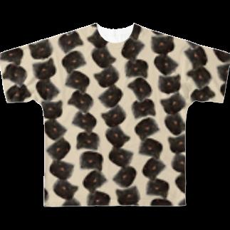 ねこじまんスーベニアショップのねこ偏愛 Full graphic T-shirts