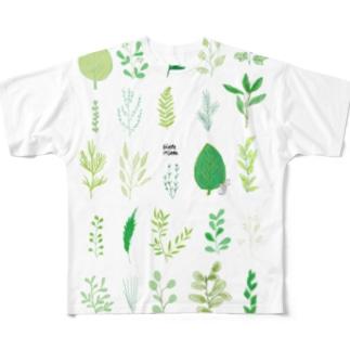 葉っぱ All-Over Print T-Shirt