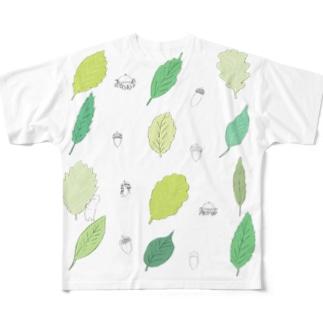 どんぐり Full graphic T-shirts