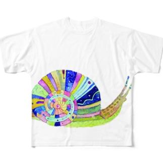 虹をわたるカタツムリ All-Over Print T-Shirt