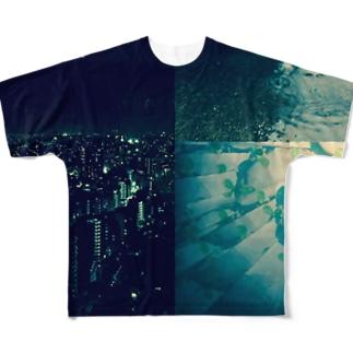 ヨルとアメと万華鏡 Full graphic T-shirts