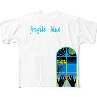 フラジルブルー Full graphic T-shirts