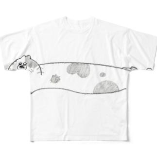 のび〜〜るハナクソちくわネコ フルグラフィックTシャツ