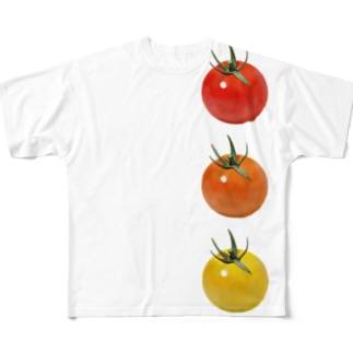 かえるのてぶくろのミニトマト3兄弟 Full Graphic T-Shirt