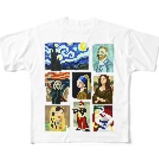 ドット美術館 Full graphic T-shirts