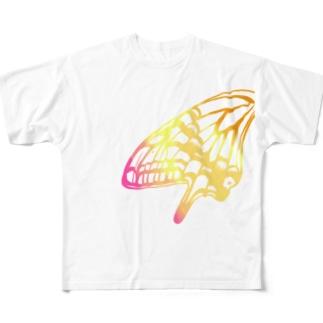 アゲハ・カラフル Full graphic T-shirts