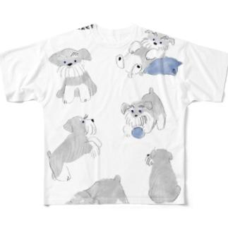 シュナウザー Full graphic T-shirts