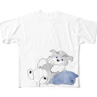 シュナウザーポイント Full graphic T-shirts