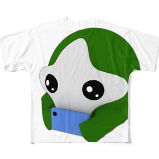 OMTNS Green フルグラフィックTシャツ