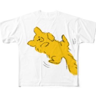 ゴールデンゴロゴロ Full graphic T-shirts