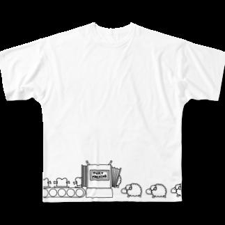 フロシキのジューシーマシーン フルグラフィックTシャツ