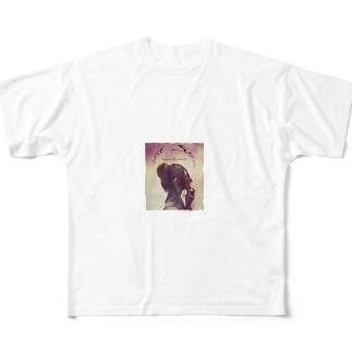 PURPLE Full graphic T-shirts
